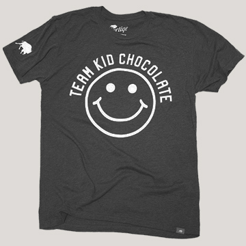 Black Team Kid Chocolate Tee by Sportiqe